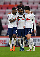 Tottenham Hotspur's Son Heung-Min (scored 2 goals during the match) having after match chat with  team mates Tottenham Hotspur's Serge Aurier and Tottenham Hotspur's Danny Rose<br /> <br /> Bournemouth 1 - 4 Tottenham Hotspur<br /> <br /> Photographer David Horton/CameraSport<br /> <br /> The Premier League - Bournemouth v Tottenham Hotspur - Sunday 11th March 2018 - Vitality Stadium - Bournemouth<br /> <br /> World Copyright &copy; 2018 CameraSport. All rights reserved. 43 Linden Ave. Countesthorpe. Leicester. England. LE8 5PG - Tel: +44 (0) 116 277 4147 - admin@camerasport.com - www.camerasport.com