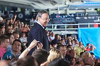 MADRI, ESPANHA, 26.06.2013 - REAL MADRID / CARLOS ANCELOTTI - Carlos Ancelotti novo treinador do Real Madrid é apresentado no Estádio Santiago Bernabeu em Madri capital da Espanha, nesta quarta-feira, 26. (Foto: César Cebolla / Alfaqui / Brazil Photo Press).