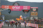 Italian Champion Elia Viviani (ITA) Deceuninck-Quick Step wins Stage 3 but is later relegated by the UCI for irregular sprinting awarding the stage win to Fernando Gaviria (COL) UAE Team Emirates, of the 2019 Giro d'Italia, running 220km from Vinci to Orbetello, Italy. 13th May 2019<br /> Picture: Gian Mattia D'Alberto/LaPresse | Cyclefile<br /> <br /> All photos usage must carry mandatory copyright credit (© Cyclefile | Gian Mattia D'Alberto/LaPresse)