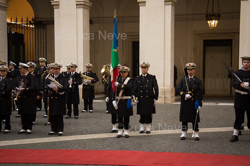Rome, 03/02/2020. Today, Viktor Orbán, Prime Minister of Hungary (Leader and President of Fidesz, a national conservative party), visited Palazzo Chigi where he met with the Italian Prime Minister Giuseppe Conte.