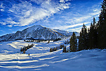 Alpine Winter Landscape. Austria, Europe