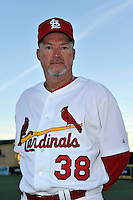 Mar 01, 2010; Jupiter, FL, USA; St. Louis Cardinals coach Marty Mason (38) during  photoday at Roger Dean Stadium. Mandatory Credit: Tomasso De Rosa/ Four Seam Images