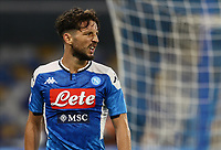 12th July 2020; Stadio San Paolo, Naples, Campania, Italy; Serie A Football, Napoli versus AC Milan; Dries Mertens of napoli looks back on a missed goal scoting chance