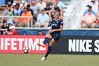 Cary, North Carolina  - Saturday July 01, 2017: Abby Dahlkemper during a regular season National Women's Soccer League (NWSL) match between the North Carolina Courage and the Sky Blue FC at Sahlen's Stadium at WakeMed Soccer Park. Sky Blue FC won the game 1-0.