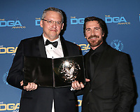 LOS ANGELES - FEB 2:  Adam McKay, Christian Bale at the 2019 Directors Guild of America Awards at the Dolby Ballroom on February 2, 2019 in Los Angeles, CA