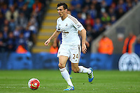 Jack Cork of Swansea City during the Barclays Premier League match between Leicester City and Swansea City played at The King Power Stadium, Leicester on 24th April 2016