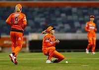 1st November 2019; Western Australia Cricket Association Ground, Perth, Western Australia, Australia; Womens Big Bash League Cricket, Perth Scorchers versus Melbourne Renegades; Meg Lanning of the Perth Scorchers drops a catch in the outfield