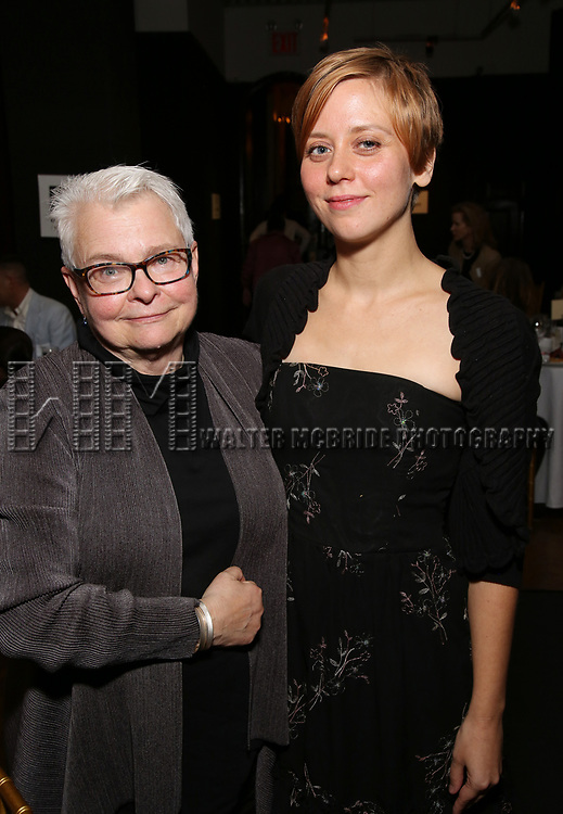 Paula Vogel and Kate Tarker attends the Vineyard Theatre's Annual Emerging Artists Luncheon at The National Arts Club on June 6, 2017 in New York City.