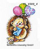 CUTE ANIMALS, LUSTIGE TIERE, ANIMALITOS DIVERTIDOS, paintings+++++,KL4589/4,#ac#, EVERYDAY ,sticker,stickers ,hedgehock,hedgehocks ,autumn
