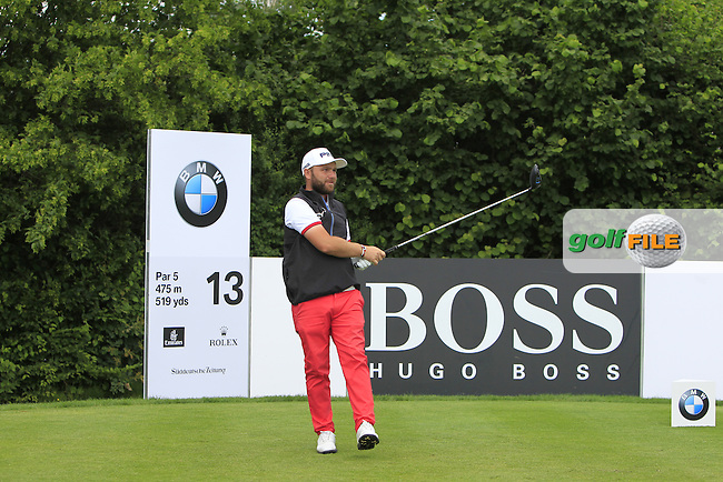 Andy Sullivan (ENG) on the 13th tee during Round 4 of the 2016 BMW International Open at the Golf Club Gut Laerchenhof in Pulheim, Germany on Sunday 26/06/16.<br /> Picture: Thos Caffrey | Golffile