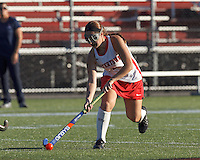 Watertown, Massachusetts - September 26, 2014: High School Field Hockey. Watertown vs Lincoln-Sudbury on September 26, 2014. Watertown finished the season winning the state championship, which extended their unbeaten streak to 138 games.