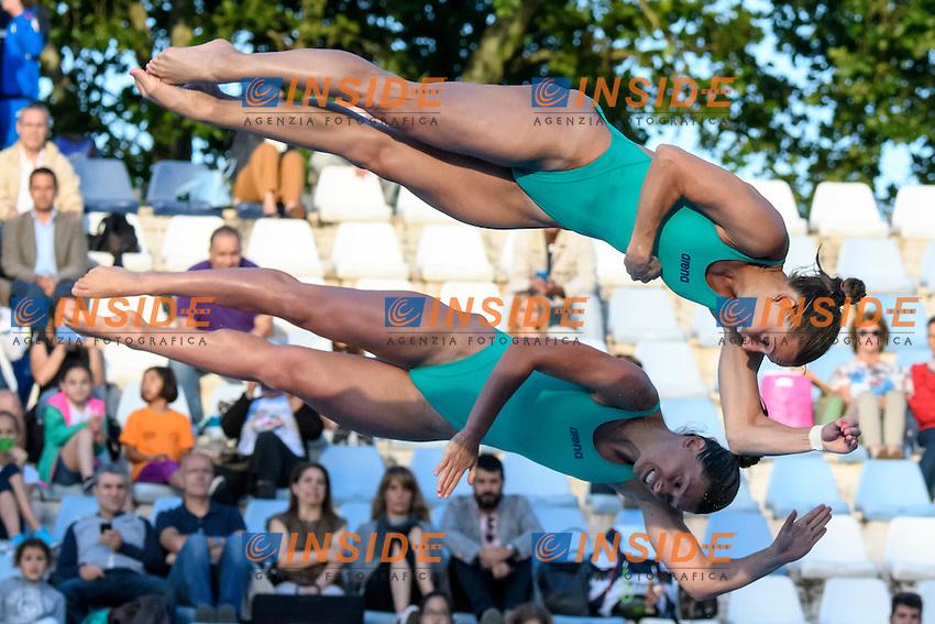 Francesca Dallape', Tania Cagnotto <br /> Springboard 3m Sincro <br /> Roma 20-06-2016 Stadio del Nuoto Foro Italico Tuffi Campionati Italiani <br /> Foto Andrea Staccioli Insidefoto