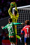 Goalkeeper Fernando Pacheco Flores of Deportivo Alaves saves the ball during the La Liga 2018-19 match between Atletico de Madrid and Deportivo Alaves at Wanda Metropolitano on December 08 2018 in Madrid, Spain. Photo by Diego Souto / Power Sport Images