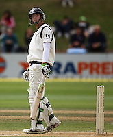 NZ's Martin Guptill in action during day four of the 3rd test between the New Zealand Black Caps and India at Allied Prime Basin Reserve, Wellington, New Zealand on Monday, 6 April 2009. Photo: Dave Lintott / lintottphoto.co.nz.