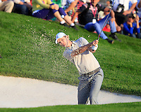 Justin Rose (Team Europe) on the 16th during Saturday afternoon Fourball at the Ryder Cup, Hazeltine National Golf Club, Chaska, Minnesota, USA.  02/10/2016<br /> Picture: Golffile | Fran Caffrey<br /> <br /> <br /> All photo usage must carry mandatory copyright credit (&copy; Golffile | Fran Caffrey)