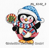 CHRISTMAS ANIMALS, WEIHNACHTEN TIERE, NAVIDAD ANIMALES, paintings+++++,KL6142/3,#xa# ,sticker,stickers