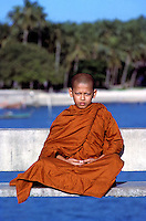 """Floating"" Buddhist Novice Monk, Phuket Thailand. Images from the Book Journey Through Colour and Time"