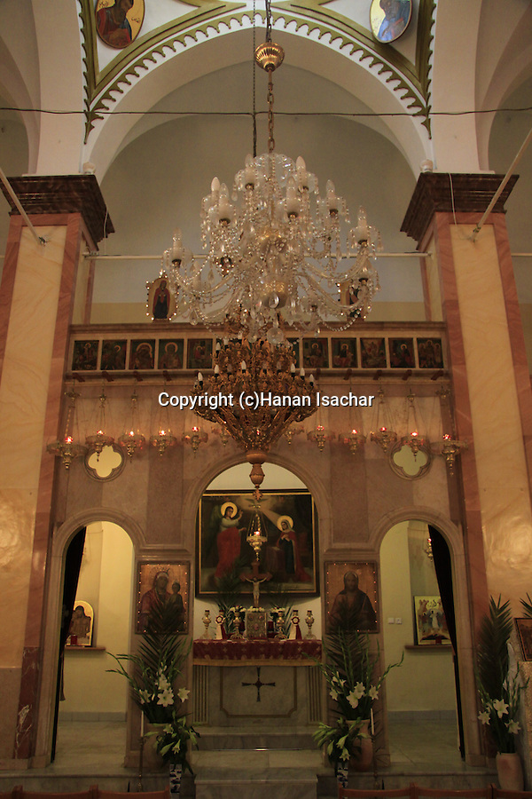 Israel, Lower Galilee, the Greek Catholic Synagoge Church in Nazareth