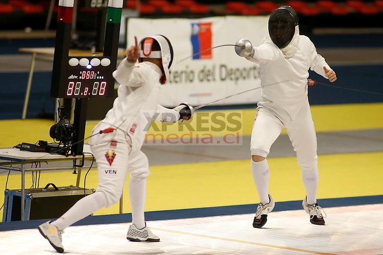 Chile, Santiago:  Campeonato Panamericano de Esgrima Adulto, clasificatorio para los Juegos Panamericanos Toronto. Abril 19, 2015. Alejandro Rustom - Xpress Media