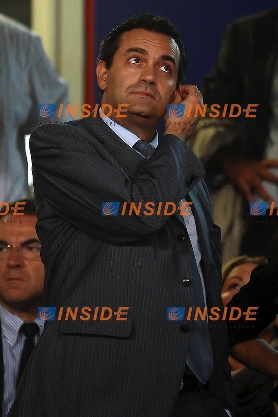 """Luigi DE MAGISTRIS Sindaco di Napoli.Napoli 27/9/2011 Stadio """"San Paolo"""".Football Calcio Champions League 2011/2012.Napoli Vs Villarreal.Foto Insidefoto Andrea Staccioli"""