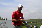 Alvaro Quiros (ESP) after teeing off on the 1st tee during Day 1 of the Volvo World Match Play Championship in Finca Cortesin, Casares, Spain, 19th May 2011. (Photo Eoin Clarke/Golffile 2011)