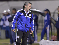 TUNJA -COLOMBIA, 06-02-2014. Juan Manuel Lillo de Millonarios durante partido contra de Boyacá Chicó por la fecha 3 Liga Postobón I 2014 realizado en el estadio La Independencia en Tunja./ Juan Manuel Lillo coach of Millonarios during match against Boyaca Chico for the 3rd date of Postobon  League I 2014 played at La Independencia stadium in Tunja. Photo: VizzorImage/ Gabriel Aponte /Staff