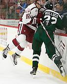 Ryan Donato (Harvard - 16), Ryan Bullock (Dartmouth - 22) - The Harvard University Crimson defeated the Dartmouth College Big Green 5-2 to sweep their weekend series on Sunday, November 1, 2015, at Bright-Landry Hockey Center in Boston, Massachusetts. -