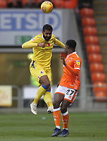 Blackpool's Mark Cullen  in action with Bristol Rovers' Stefan Payne<br /> <br /> Photographer Mick Walker/CameraSport<br /> <br /> The EFL Sky Bet League One - Blackpool v Bristol Rovers - Saturday 3rd November 2018 - Bloomfield Road - Blackpool<br /> <br /> World Copyright &copy; 2018 CameraSport. All rights reserved. 43 Linden Ave. Countesthorpe. Leicester. England. LE8 5PG - Tel: +44 (0) 116 277 4147 - admin@camerasport.com - www.camerasport.com