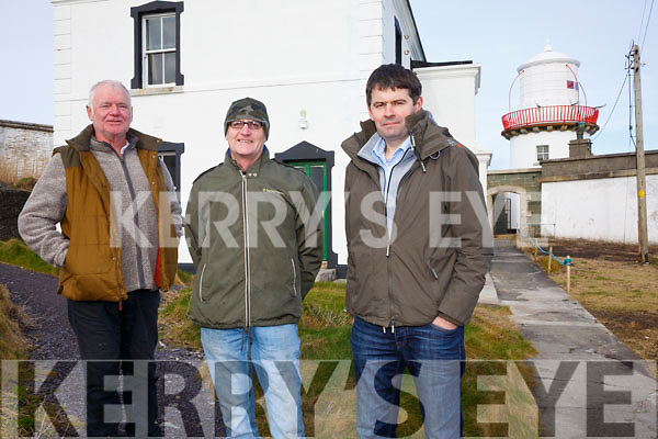 Members of the Committee responsible for the conversion of the Old Cromwell Point Lighthouse in Valentia to a visitor Centre, pictured l-r; Brian Morgan(Chairman), Paul Duff & Concúbhair Lyne(SKDP - RSS Supervisor).