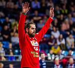 Milos PUTERA (#44 SC DHfK Leipzig) \ beim Spiel in der Handball Bundesliga, SG BBM Bietigheim - SC DHfK Leipzig.<br /> <br /> Foto &copy; PIX-Sportfotos *** Foto ist honorarpflichtig! *** Auf Anfrage in hoeherer Qualitaet/Aufloesung. Belegexemplar erbeten. Veroeffentlichung ausschliesslich fuer journalistisch-publizistische Zwecke. For editorial use only.