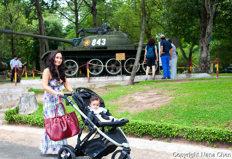 Former boatperson turned home design success, Alan Duong is one of the new generation of super-rich Vietnamese women. Pictured here at the Reunification Palace, formerly the Presidential Palace where North Vietnamese tanks run through its gates during the Fall of Saigon on April 30, 1975.