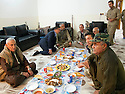 Iraq 2014 <br /> Lunch at the headquarters of Hamid Effendi , near the front line at Dubardan <br />   Irak 2014 <br /> Dejeuner au quarier general de Hamid Effendi pres de la ligne du front a Dubardan
