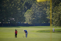 Tiger Woods (USA) hits his approach shot tight on 8 during 3rd round of the 100th PGA Championship at Bellerive Country Club, St. Louis, Missouri. 8/11/2018.<br /> Picture: Golffile | Ken Murray<br /> <br /> All photo usage must carry mandatory copyright credit (&copy; Golffile | Ken Murray)