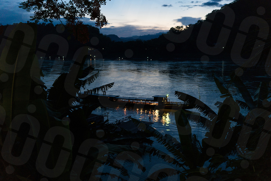 May 13, 2017 - Luang Prabang (Laos). Tourist boats on the stretch of the Mekong river that passes through Luang Prabang. © Thomas Cristofoletti / Ruom