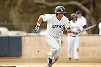 SAN ANTONIO, TX - FEBRUARY 20, 2016: The University of Texas at San Antonio Roadrunners defeat the University of Connecticut Huskies 6-5 at UTSA Roadrunner Field. (Photo by Jeff Huehn)