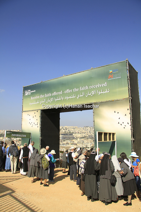 The International Day of Faith celebration on Mt. Precipice in Nazareth.