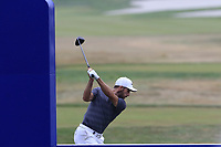 Romain Wattel (FRA) tees off the 13th tee during Saturday's Round 3 of the Porsche European Open 2018 held at Green Eagle Golf Courses, Hamburg Germany. 28th July 2018.<br /> Picture: Eoin Clarke | Golffile<br /> <br /> <br /> All photos usage must carry mandatory copyright credit (&copy; Golffile | Eoin Clarke)