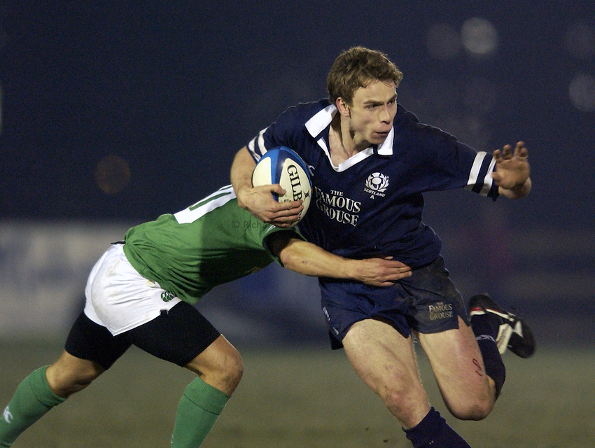 .Photo. Jed Wee.Scotland A v Ireland A, Rugby Union Friendly, Bridgehaugh, Stirling. 15/02/2003..Scotland's Andrew Henderson.