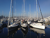 Sailboats at Port of Sidney Marina, Sidney, British Columbia, Canada