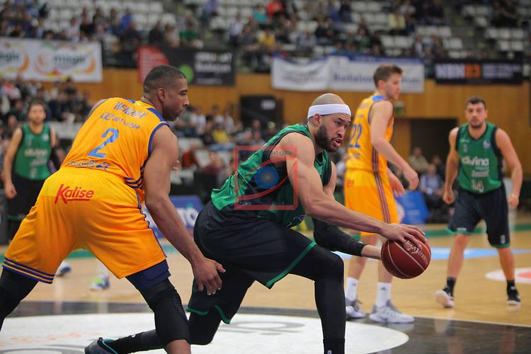 League ACB-ENDESA 2016/2017. Game: 28.<br /> Divina Seguros Joventut vs Herbalife Gran Canaria: 86-72.<br /> Richard Hendrix vs Jerome Jordan.
