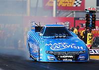 Feb 24, 2017; Chandler, AZ, USA; NHRA funny car driver Tommy Johnson Jr during qualifying for the Arizona Nationals at Wild Horse Pass Motorsports Park. Mandatory Credit: Mark J. Rebilas-USA TODAY Sports