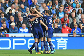 30th September 2017, The John Smiths Stadium, Huddersfield, England; EPL Premier League football, Huddersfield Town versus Tottenham Hotspur; Harry Kane of Tottenham Hotspur FC celebrates his second goal with team mates in the 23rd minute to make it 3-0