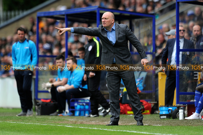 FC Halifax Town manager Billy Heath during FC Halifax Town vs Chorley, Vanarama National League North Football at The Shay on 13th May 2017