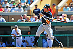 11 March 2009: New York Yankees' outfielder Johnny Damon at bat during a Spring Training game against the Detroit Tigers at Joker Marchant Stadium in Lakeland, Florida. The Tigers defeated the Yankees 7-4 in the Grapefruit League matchup. Mandatory Photo Credit: Ed Wolfstein Photo