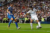 1st October 2017, Santiago Bernabeu, Madrid, Spain; La Liga football, Real Madrid versus Espanyol; Marco Asensio (20) Real Madrid cuts back from his marker