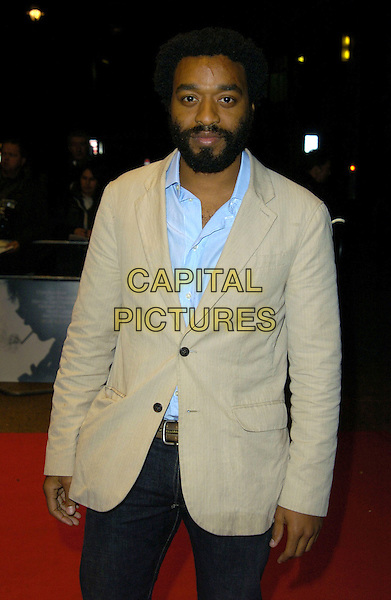"CHIWETEL EJIOFOR.BFI London Film Festival Screening of ""Talk To Me"", Odeon West End, London, England, .October 27th 2007..half length beige cream jacket blue shirt beard.CAP/CAN.©Can Nguyen/Capital Pictures"