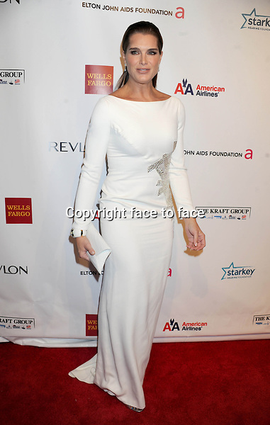 "Brooke Shields at the 11th Annual Elton John AIDS Foundation's ""An Enduring Vision"" in new York on October 15, 2012..Credit: Dennis Van Tine/StarMaxInc/face to face - Hungary, Bulgaria, Croatia, Russia, Romania and Moldavia, Slovakia, Slovenia, Bosnia & Herzegowina, Serbia, Ukraine and Belaurus, Lithuania, Latvia, Estonia, Australia, Spain, Taiwan, Singapore, China, Malaysia and Thailand rights only -"