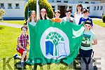The Green committee unvial their Green Flag at the St Josephs NS Castlemaine funday  on Sunday l-r: Darragh Lynch, Caoimhe Giles, Ella Hussey, James Barton, Jenny McCarthy, Mellissa Johnston, Michael Byrne and Dylan Corkery