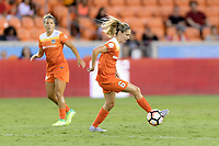 Houston, TX - Wednesday June 28, 2017: Morgan Brian gains control of a loose ball during a regular season National Women's Soccer League (NWSL) match between the Houston Dash and the Boston Breakers at BBVA Compass Stadium.