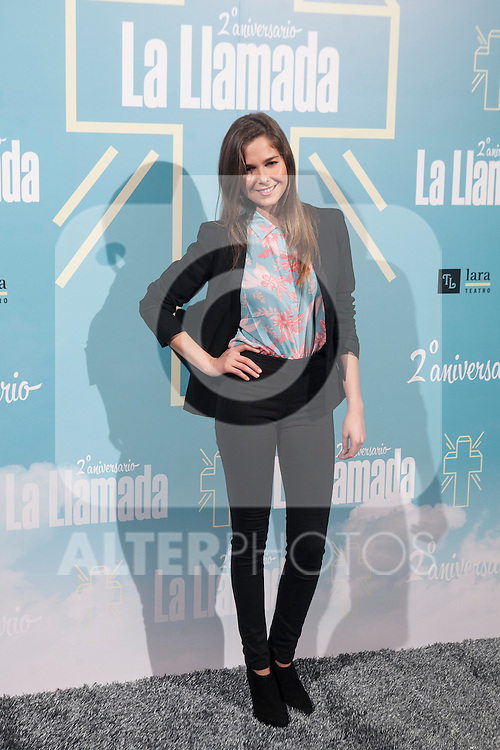 Natalia Sanchez attends La Llamada theater play in Madrid, Spain. April 15, 2015. (ALTERPHOTOS/Victor Blanco)